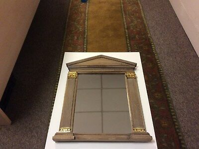 EMPIRE Style Column MIRROR with moldings and brass accents