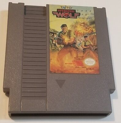 Operation Wolf Nes (Nintendo Entertainment System, 1989) Free and Fast Shipping