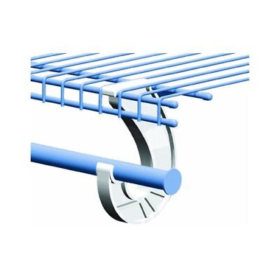 SuperSlide White Closet Rod Support Pack of 1