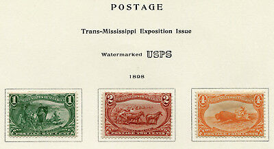 1898 USA.  Trans-Mississippi Exposition, Omaha.  Part set of 3 MLH.  SG 291/293.