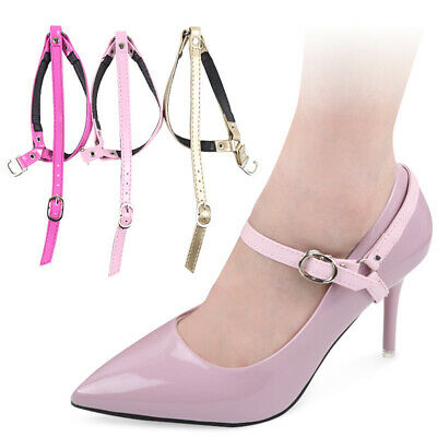2PCS Detachable Shoe Straps Heels Buckle Belt Removable Ankle Harness For Pumps