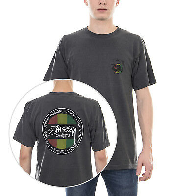 0f42f9cd41 STUSSY REGGAE DIAMOND Pigment Dyed T-Shirt Black - £42.95 | PicClick UK