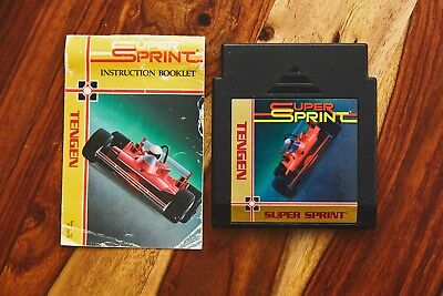 Super Sprint (Nintendo Entertainment System, 1989) NES TENGEN with manual