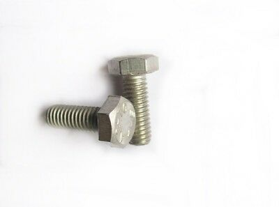 10 Vis Hexagonale Inox A2 DIN933 M6x16 Stainless Screw Rostfrei Vis