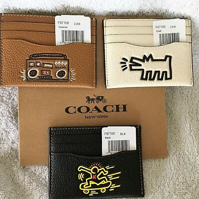 Coach Keith Haring Slim Card Case -  Boombox  - NWT $95