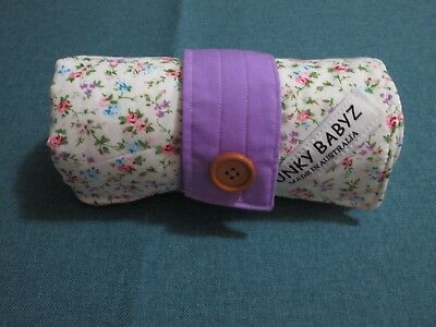 Handmade baby changing mat 100% cotton-Petite country flowers.