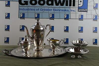 Rodgers Bros. Silverplated Tea/Coffee Service Set (Incomplete) + 2 Oneida Bowls