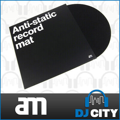 AM Clean Sound Anti-Static Vinyl Slipmat Professional Turntable Pad Carbon Felt