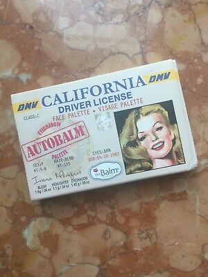 Mini palette voyage The Balm Autobalm california driver license
