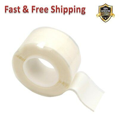 ESI Silicone Self-Bonding Bicycle Protect/&Repair Tape 10 ft Roll Clear