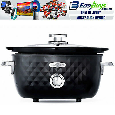 Slow Cooker Euro Premium Ceramic with Tempered Glass Lid 3 Litre