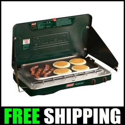 CAMP STOVE PROPANE 2 Burner Outdoor Camping Portable Cooktop Gas Grill Cook  NEW