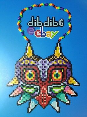 Majoras mask Legend of Zelda kandi perler necklace rave EDC PLUR hama art bead