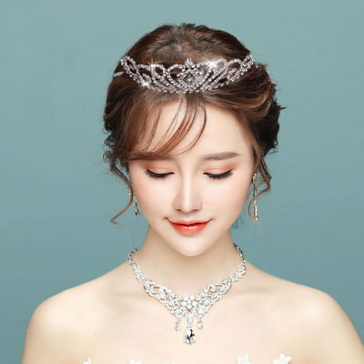 Wedding Fashion Bridal Crystal Diamante Headband Bridesmaid Hair Tiara Crown NEW