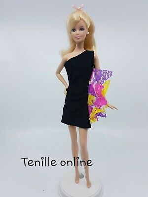 New Barbie clothes/ outfit / princess/wedding dress purple lace and shoes x1