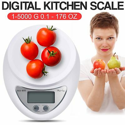 New 5Kg x 1g Digital Kitchen Scale Diet Food Compact Scale US Seller