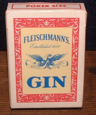 Vintage FLEISCHMANN'S GIN Poker Size Playing Cards Hoyle Products Minnesota