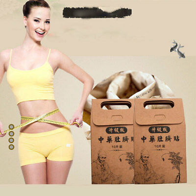 10Pcs/Set Chinese Medicine Weight Loss Slimming Diets Patch Pads Detox