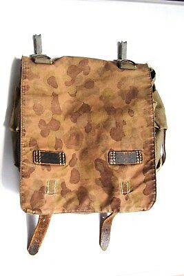 Rare WW2 WWII German Military Army Camouflage Backpack Bag Pouch