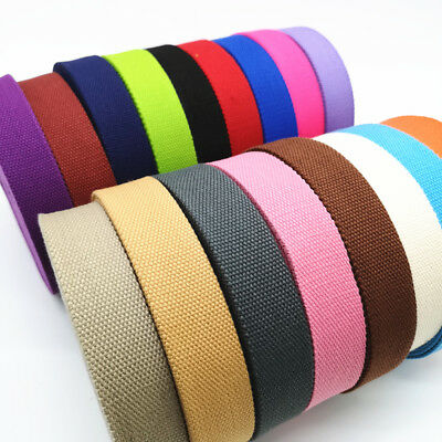 32mm Wide Canvas Ribbon Belt Bag Thickening(2mm) Cotton Webbing Nylon Webbing