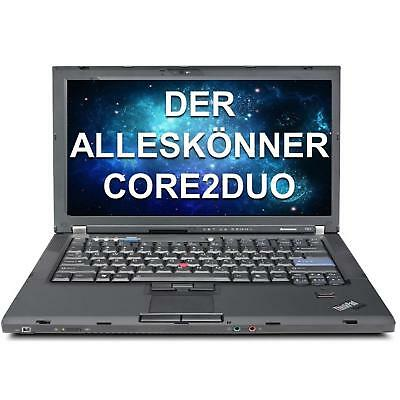 Lenovo ThinkPad T61 Core2Duo 1,8 GHz 4 GB 160 HDD Windows 7 Pro DEUTSCH A Ware