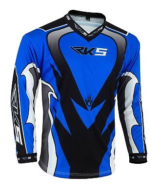 Rksports Adults Motorbike Motorcycle OFF ROAD TOP Grey Blue Red