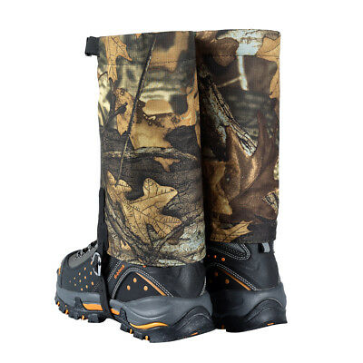 Camo Waterproof Leg Gaiters Boot Shoe Cover Walking Outdoor Legging Gators
