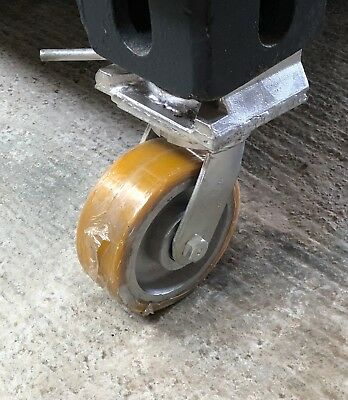 ISO Shipping Container Castor Wheels c/w Twistlocks + 360˚ Swivel @ 4000kg each