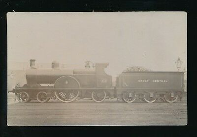 Railway GREAT CENTRAL Engine No 972 pre1919 RP PPC by Pouteau