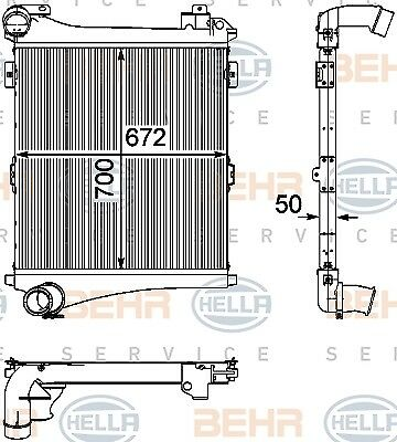 BEHR HELLA SERVICE Intercooler Charger 8ML376746-341
