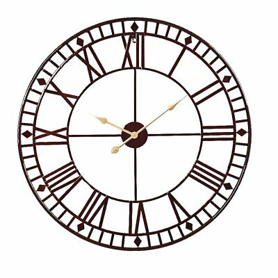 58/80 cm Modern Metal Round Wall Clock Indoor Outdoor Giant Open Face Decor Gift