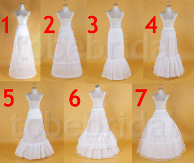 Bridal wedding petticoat underskirt crinoline prom bridal dress slip hoop skirt