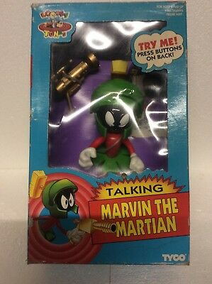 "NIB Talking Marvin the Martian by Tyco Looney Tunes New 6"" Action Figure 1993"