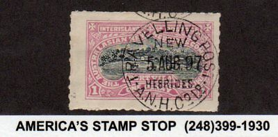 1897 Australian New Hebrides Local Inter-Island Postage, Port Villa, Used CDS*