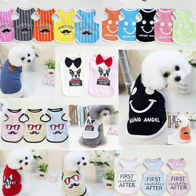 Cute Spring Summer Pet Vest Clothes Puppy Small Dog Cat Various T-Shirts Apparel