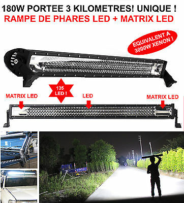 Promo! Rampe De Phare Led+Matrix Led 180W Portee 4Km Land Pajero Patrol Jeep Hdj