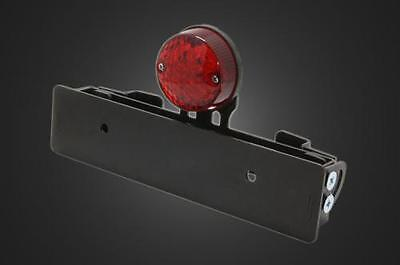 GARAGE T?F Round Tail Lamp for Sissy Bar LED Tail Lamp Lens Color: Red