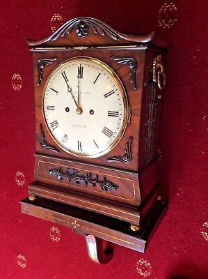 Georgian Twin Fusee Bracket Clock With Shelf By M&W Dilger C1800 To C1820