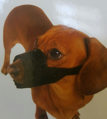 Soft Adjustable Neoprene Dog Safety Muzzle Biting Barking Chewing 3 Sizes