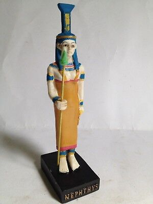 "NEPHTHYS God Ancient Egypt Resin figure 6.5"" egyptian Pharaoh new Agostini"