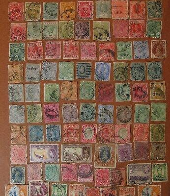 Lot,87 British World Postage Stamps,Used