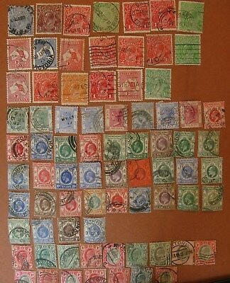 Lot,76 Australia;Hong Kong;Transvaal Postage Stamps 1863-1937,Used