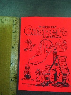 VINTAGE Casper's The Ghost GUMBALL frount ad card 1960 New Old Stock OEM 1 Cent