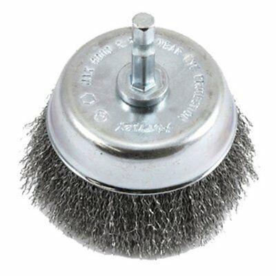 """Forney 72732 Wire Cup Brush, Fine Crimped with 1/4-Inch Hex Shank, 3"""""""