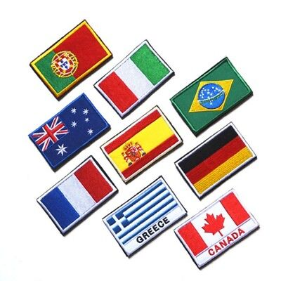 Hot National Country Embroidered Flag Sew On/ Iron On Patch Choose Your Country
