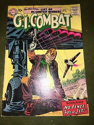 """G.I. Combat #48  1957 :  No Fence For A Jet!"""" : CollectableCondition Jet Cover"""