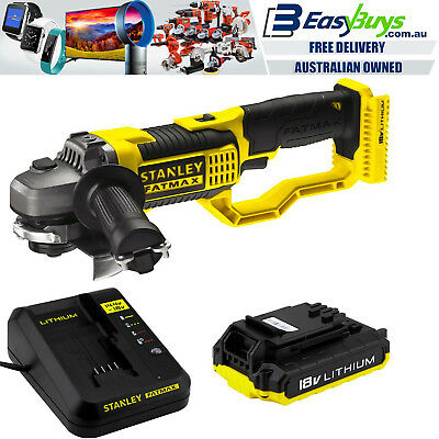 Stanley Fatmax Cordless Angle Grinder 18V with Battery & Charger