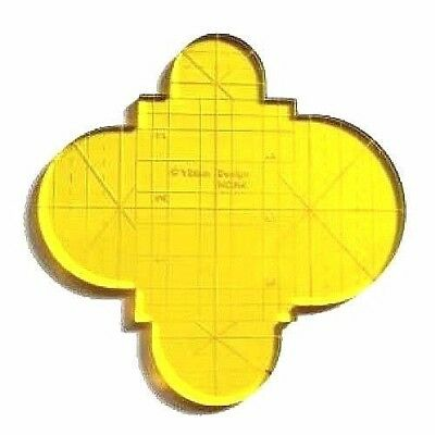 Clamshell (Half Circle) Quilting Template  HCIR4-5mm