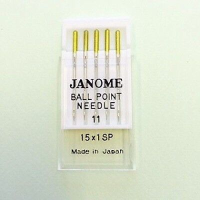 Genuine Janome Needle 15x1SP  #11 Gold Tip  Pack of 5 Needles