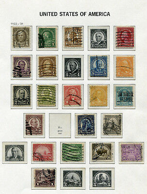 1922-1932 USA.  Part set of 21 USED.  SG 559/579.  CV £11.